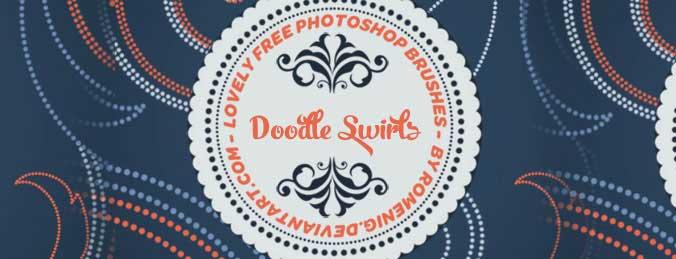 Free Photoshop Brushes Doodle Swirls