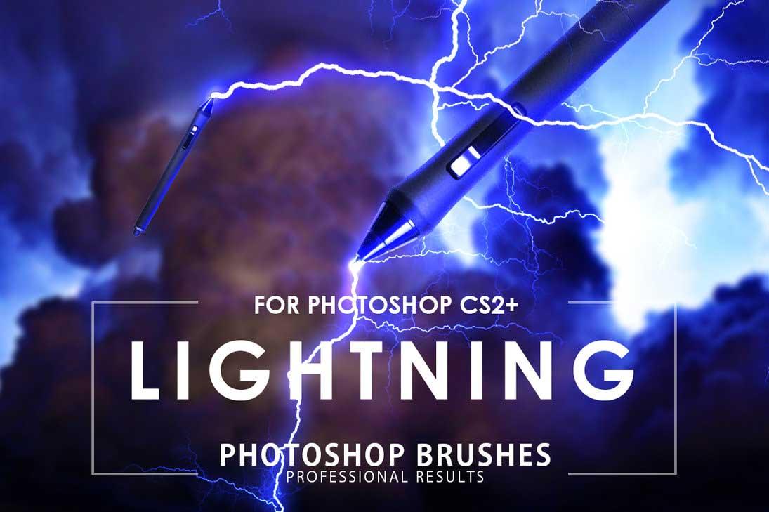 Lightning fresh free photoshop brushes