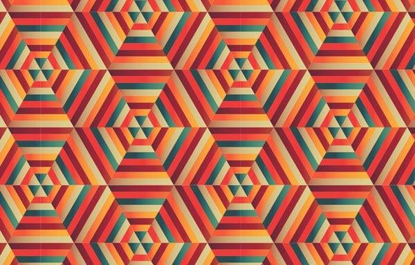16 Blended Hexagonal Print Design in Adobe Illustrator