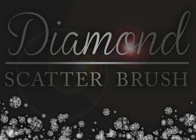 Free Photoshop Brushes Diamond Scatter Brush