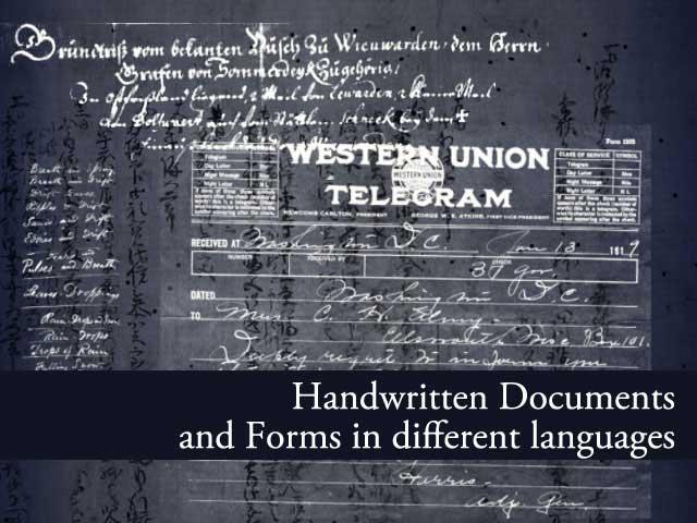 19 Handwritten Documents