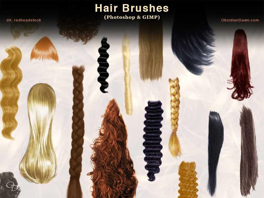 Hair Photoshop GIMP Brushes