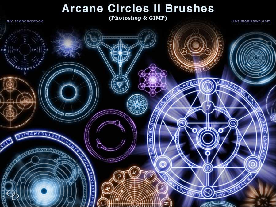 Arcane Circles Photoshop GIMP Brushes