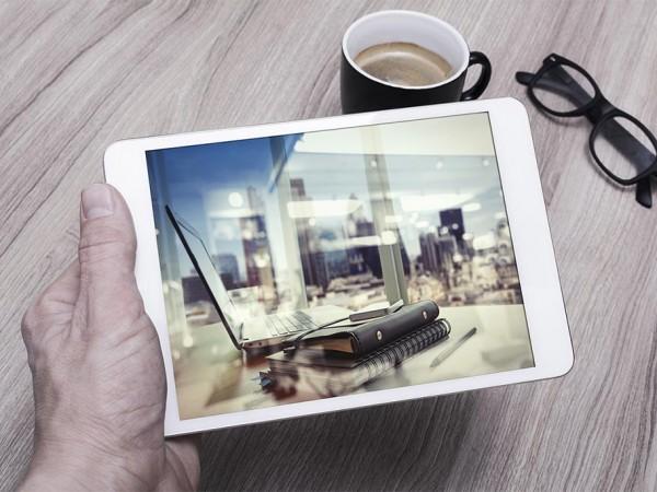 3 iPad in male Hand Mockup