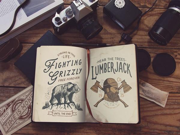 37 Vintage Style Book Mockup
