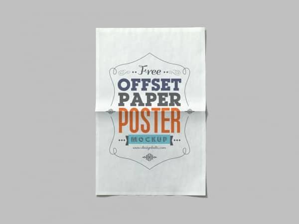 4 Offset Paper Poster Mockup