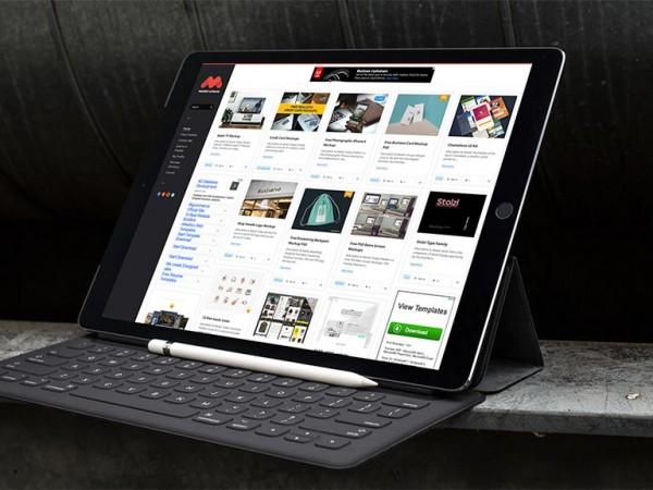 5 Black iPad Pro Mockup