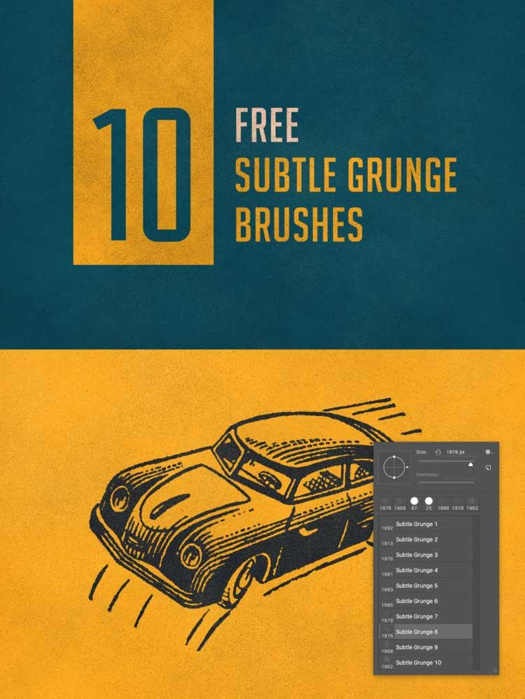 Free Photoshop Brushes Subtle Grunge