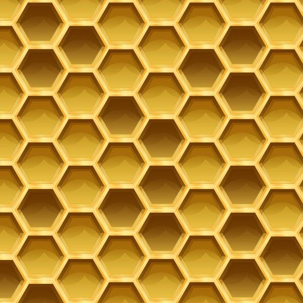 Sweet Honeycomb Pattern in Adobe Illustrator
