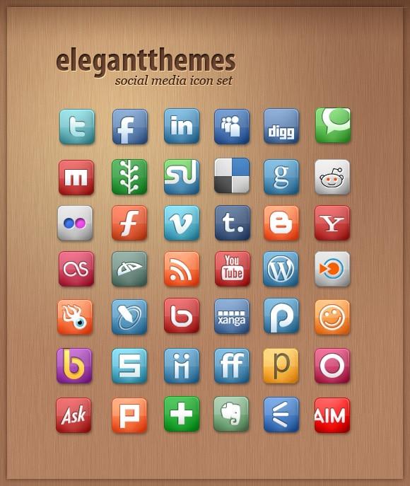 elegantThemes Free Icon Sets