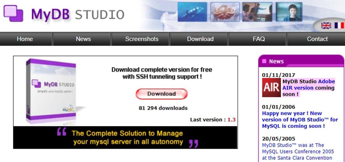MyDB Studio_ Simplify your MySQL admin ! (Best MySQL front end)