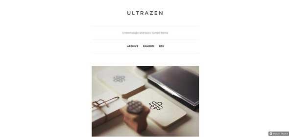 Ultrazen Tumblr Theme