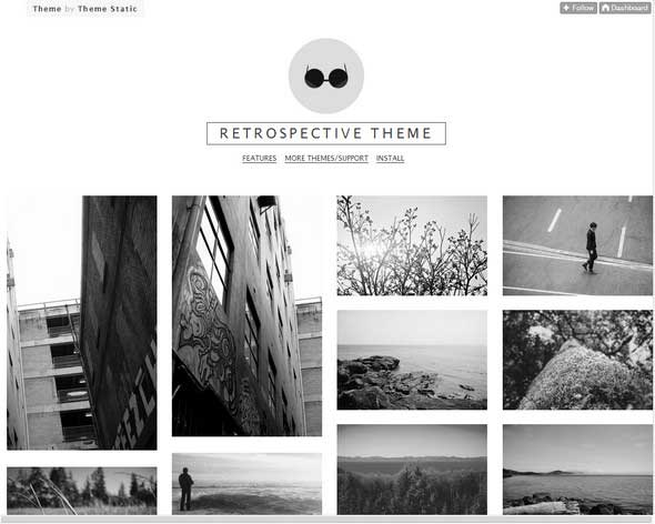12 Retrospective Grid Free Tumblr Themes