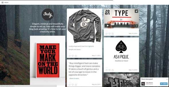 19 Indy Tumblr Theme