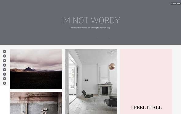 20 Wordy Tumblr Theme