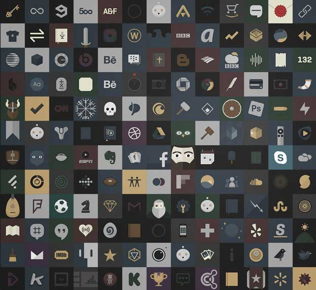 Dark iOS Icons PSD