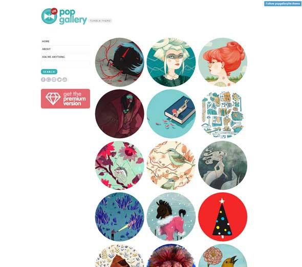 25 Pop Gallery Lite Tumblr Theme
