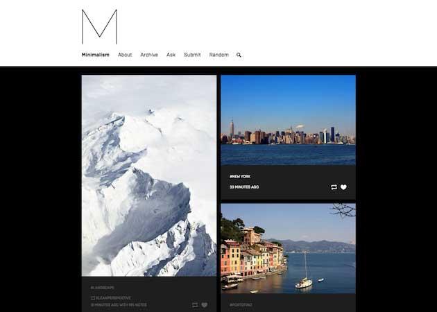 39 Minimalism Tumblr Theme