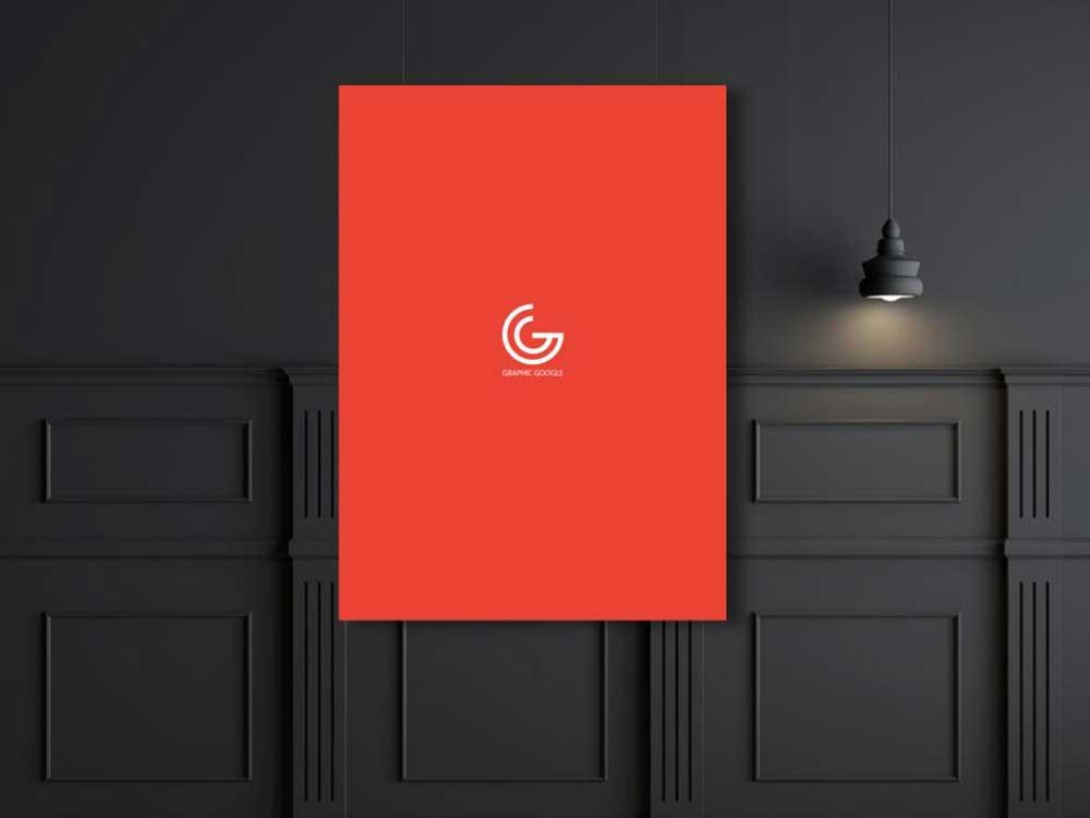 6 Dark styled Poster Presentation Mockup