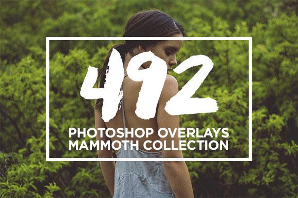 11 Photoshop Overlays MAMMOTH Bundle