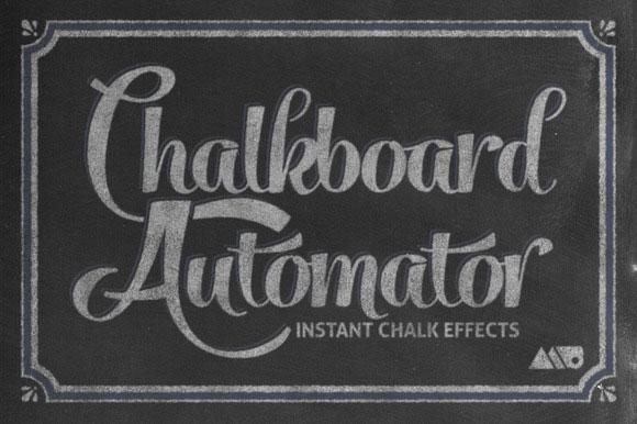 18 Chalkboard Automator Chalk Effects