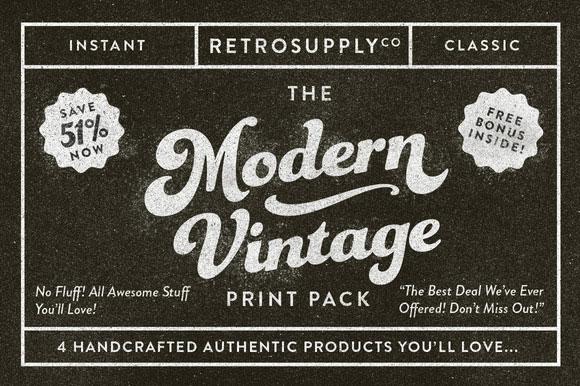 20 The Modern Vintage Print Pack