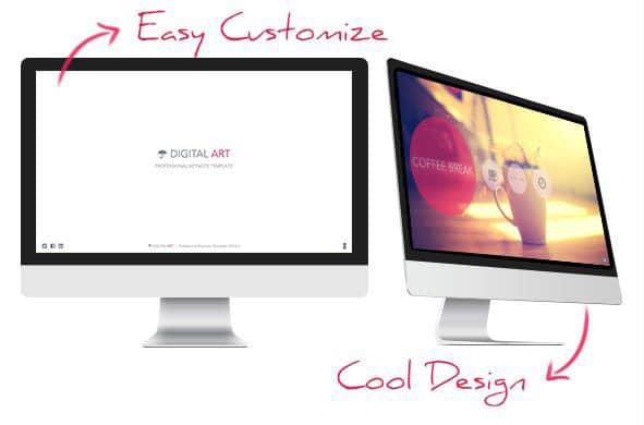 digital art google slides presentation template
