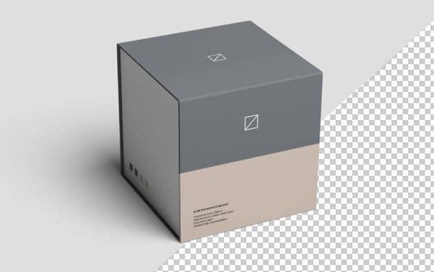 slide box package mockup