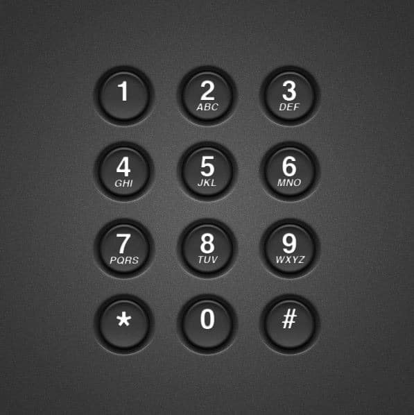 create-a-realistic-telephone-keypad