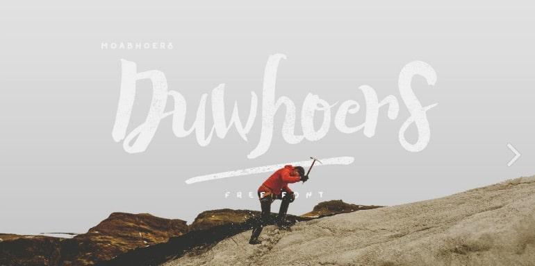 Duwhoers Brush Free Font-_-Agga-Swist'blnk