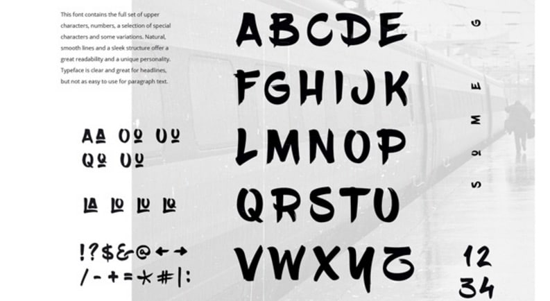 BlowBrush Free Font _ GraphicBurger