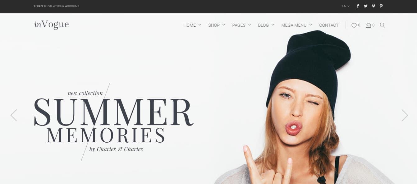 inVogue - WordPress Fashion Shopping Theme Preview - ThemeForest
