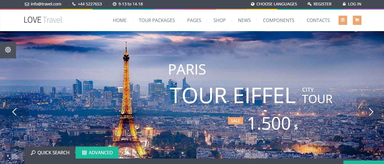 Love Travel - Creative Travel Agency WordPress Preview - ThemeForest