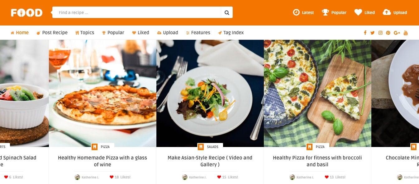 Tasty Food - Recipes & Food Blog WordPress Theme Preview - ThemeForest
