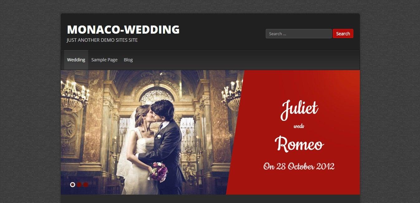 monaco wedding _ Just another demo Sites site