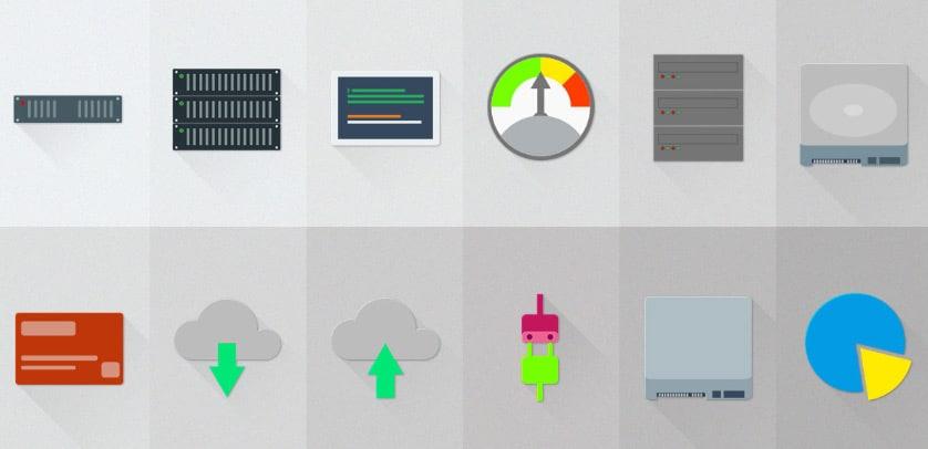 Free Set of Server - Hosting Material Design Icons