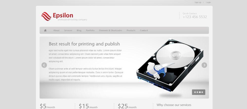 Epsilon - Hosting and Business WordPress Theme | Hosting