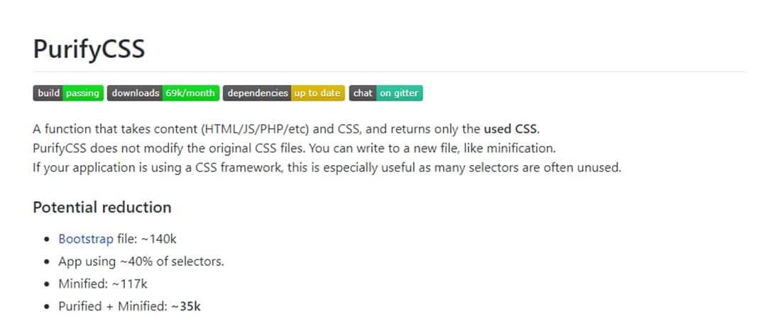 purifycss purifycss Remove unused CSS