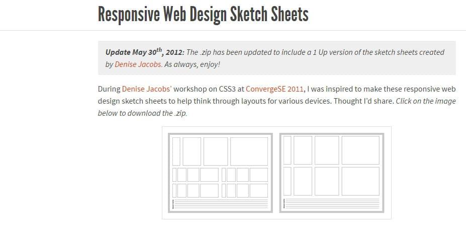 Responsive Web Design Sketch Sheets