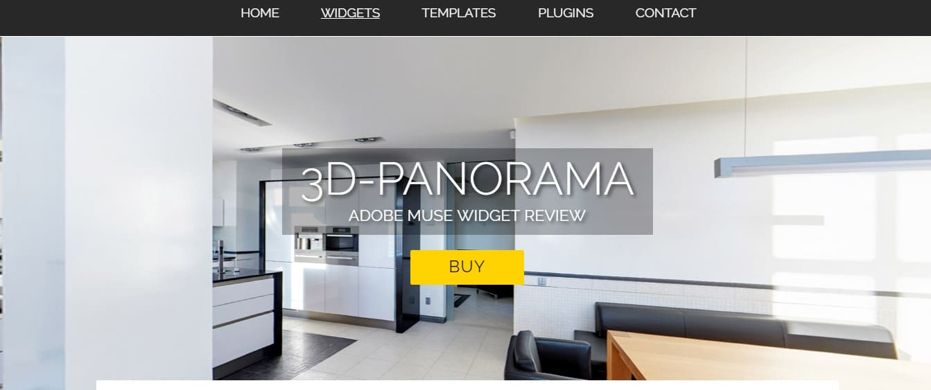 3D Panorama Adobe Muse Widgets