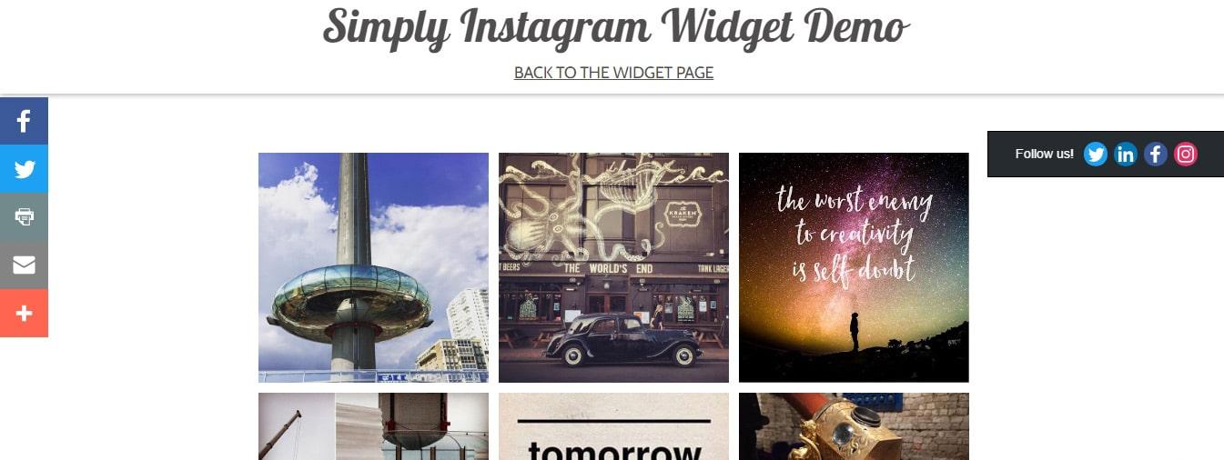 Simply Instagram Widget Adobe Muse