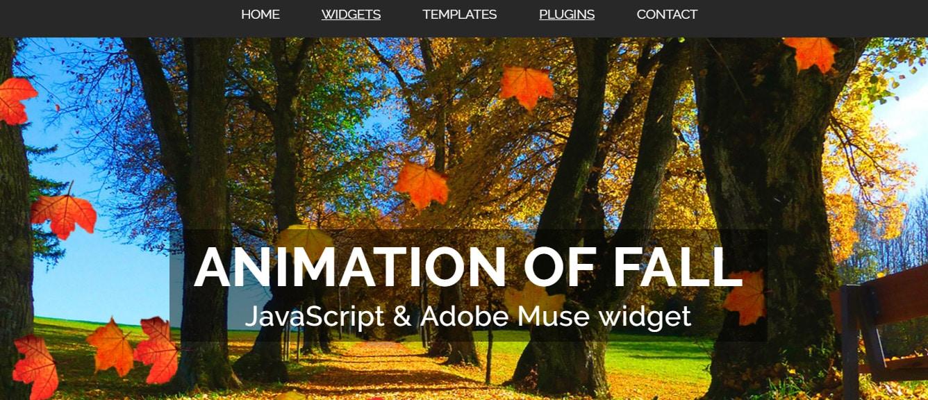 Animation Adobe Muse