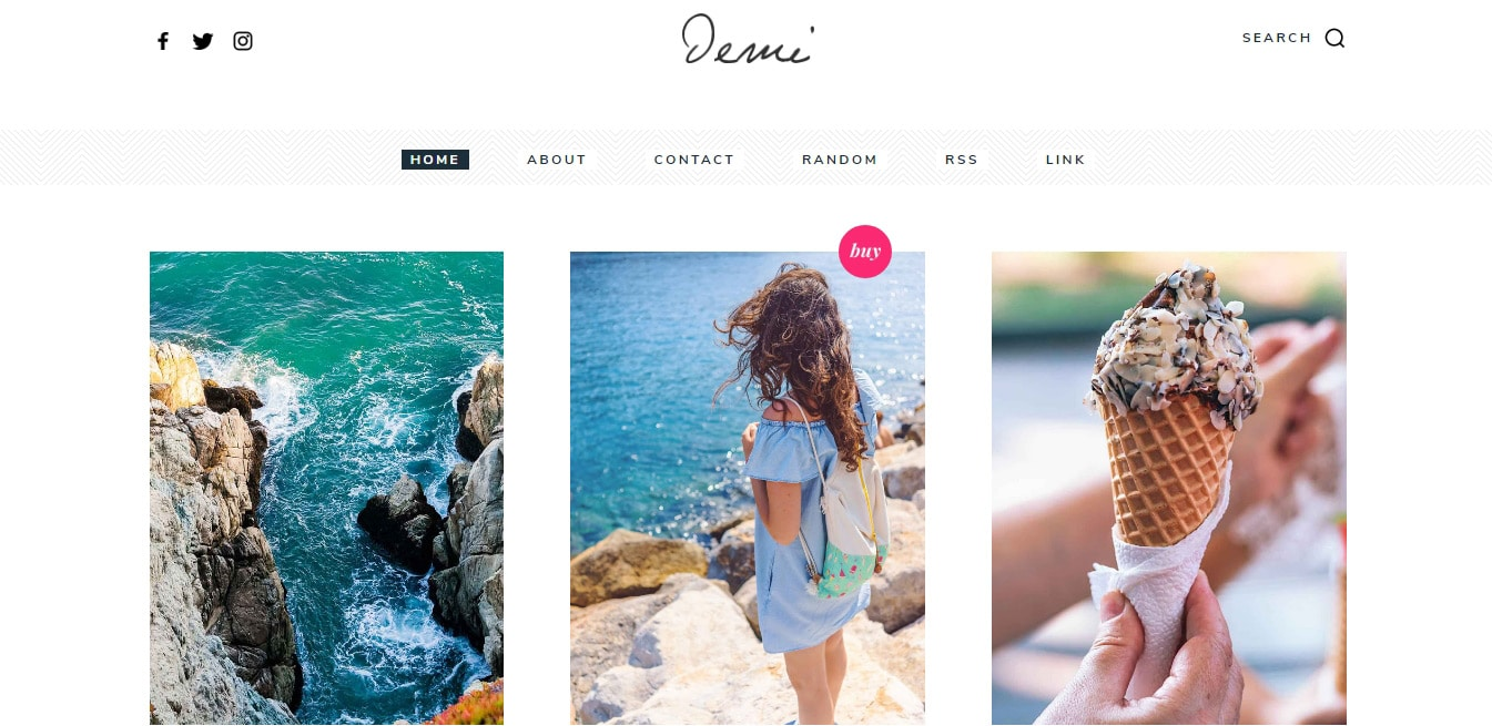 Demi blog website templates