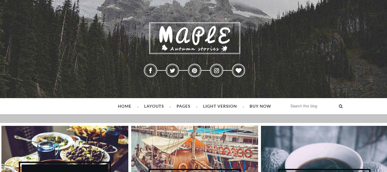 Maple Elegant Responsive Blogging Theme