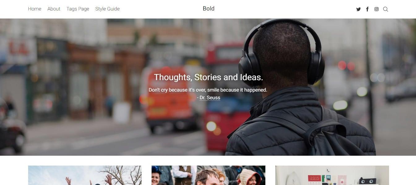 Bold Blog Magazine Ghost Theme