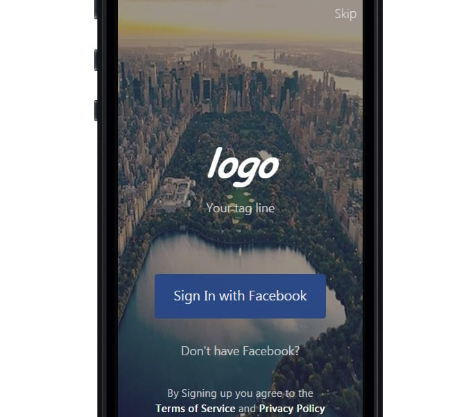 IonSocialApp Ionic Social-Template