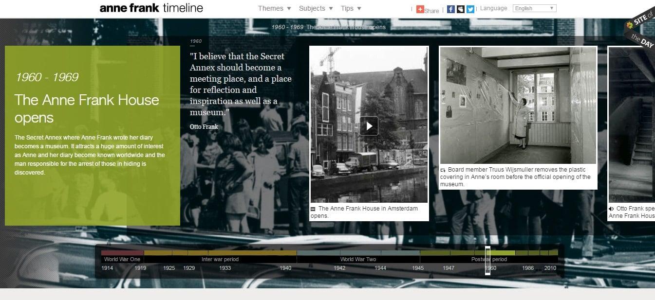 Anne Frank Timeline design