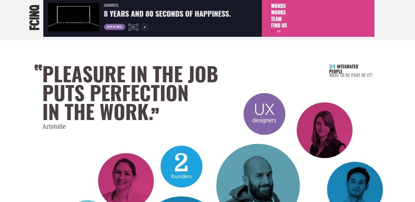 FCINQ Team Pages Design