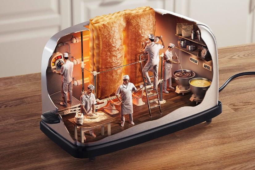 Worlds Smallest Bakery 3D Illustrations