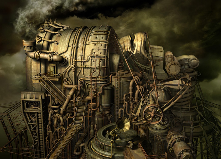 Requiem for Industry 3D Illustrations